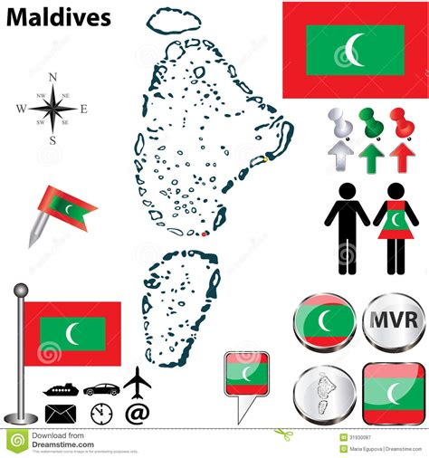 maldives map vector map of maldives royalty free stock photography image