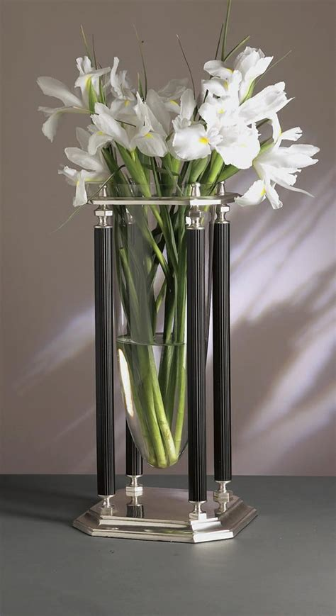 decorative accessories for home antique silver and black floating vase for indoor
