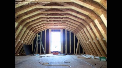 building  home gambrel roof youtube