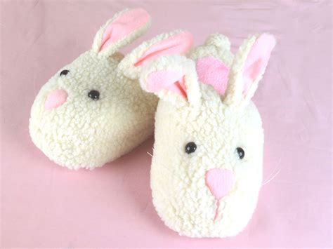 rabbit slippers for adults s bunny slippers size medium fits s