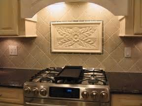 decorative backsplashes kitchens crafted kitchen backsplash tiles using colonial flower tile and decorative liners by