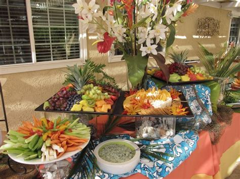 Wedding Anniversary Buffet Ideas by Fresh Ideas Catering A 50th Anniversary Luau