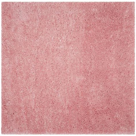 light pink shag rug safavieh polar shag light pink 6 ft 7 in x 6 ft 7 in square area rug psg800p 7sq the home