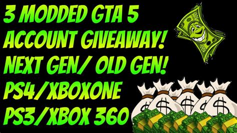 Gta 5 Money Giveaway - gta 5 modded accounts giveaway any rank money free unlimited money and rp online