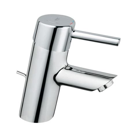 grohe bathroom sink faucets shop grohe concetto starlight chrome 1 handle single hole
