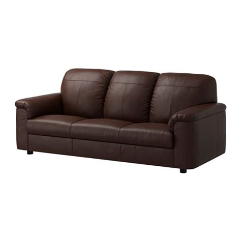 Ikea Leather Sectional Sofa Timsfors Sofa Mjuk Kimstad Brown Ikea