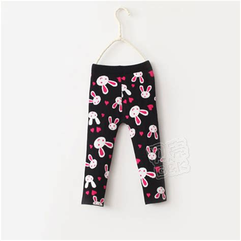 express pattern leggings 2015 winter new fashion little girls rabbit print pattern