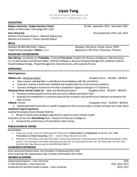 data scientist resume resume ideas