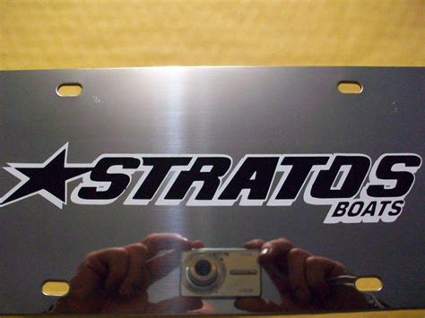 stratos boats license plate buy chion boat license plate motorcycle in cleveland