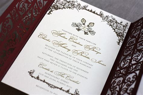 wedding invitation styles style laser cut invitations