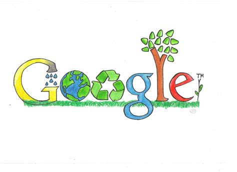 google design winners environmental theme google doodle if i were a green hero