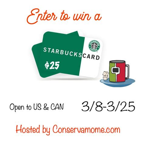 How Much Money Is On My Starbucks Gift Card - 25 starbucks gift card giveaway ends 3 25 conservamom