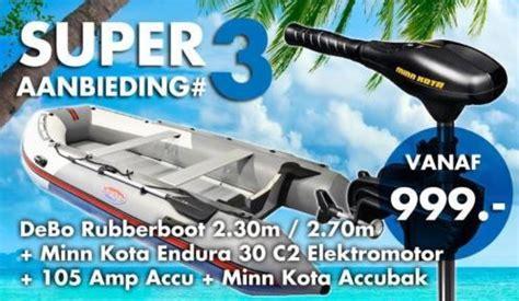 rubberboot met elektromotor te koop debo rubberboot minn kota elektromotor 105 accu