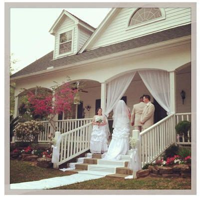 Country wedding on the front porch.   wedding hair styles