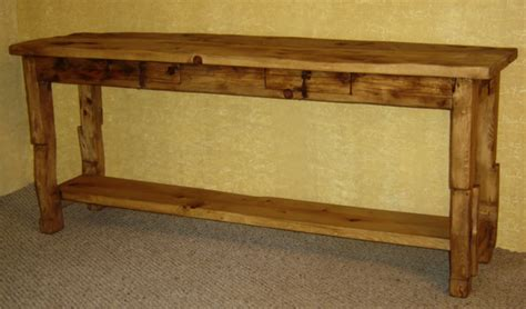 sofa tab rustic sofa table with drawers rustic console table