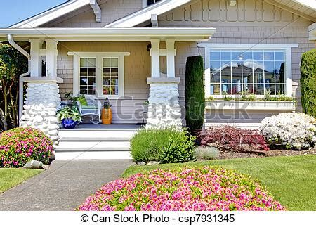 Cottage Style House Plans With Porches stock images of white small old house front porch of the