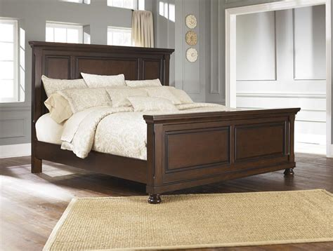 ashley beds porter king panel bed from millennium by ashley furniture