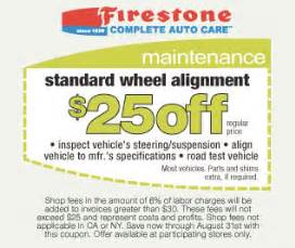 Car Tire Alignment Coupons 25 Standard Wheel Alignment Firestone Coupon