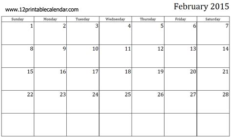 8 best images of free printable february 2015 calendar