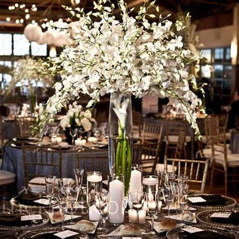 varying centerpieces above white inexpensive diy