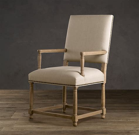 parsons armchair restoration hardware empire parsons upholstered armchair