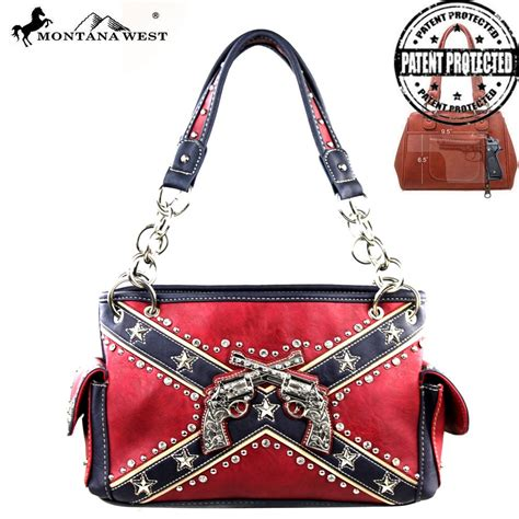 cfd01g 8085 montana west confederate flag collection handbag new arrival