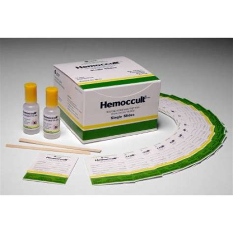 Stool Hemoccults by Hemoccult Single Slides Rapid Diagnostic Test Kit 60151a