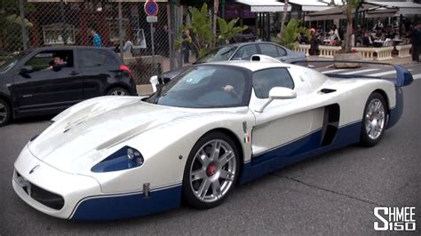maserati mc12 red maserati mc12 overview and driving in monaco youtube