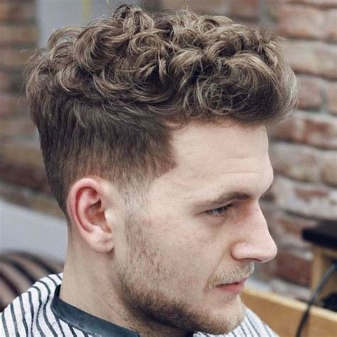 tapered sides with curls curly hairstyles for men