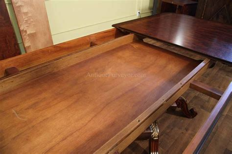 dining room tables with self storing leaves mahogany and walnut dining room table with self storing