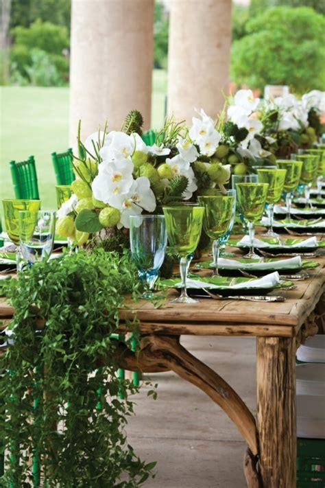 Tischdeko Hochzeit Gr N Wei by Frische Ideen F 252 R Tischdeko In Gr 252 N Und Wei 223 Archzine Net