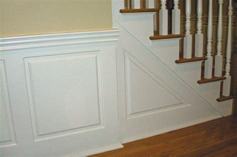 wainscoting panels up stairs custom raised panel staircase wainscoting pictures