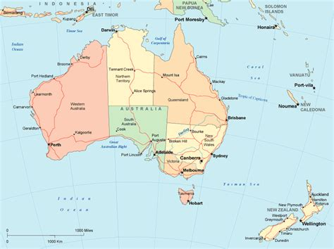 map of countries in australia 3rd eso geography