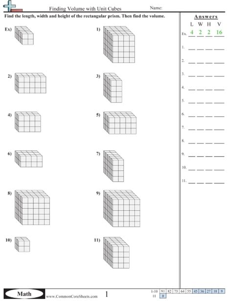 volume of rectangular prism worksheet worksheets for all