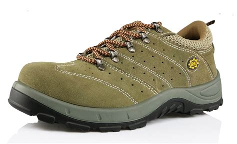 safety shoes sport deltaplus sole suede leather sport safety shoes