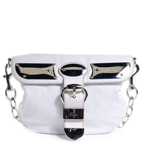 Gucci Romy Medium Boston Bag by Gucci Leather Medium Romy Shoulder Bag White 65891