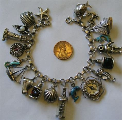 vintage and charms vintage antique sterling 800 silver nautical sea