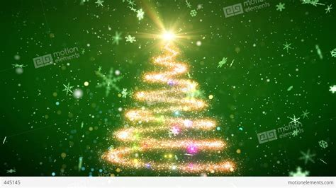 christmas tree glitter ac3 stock animation 445145