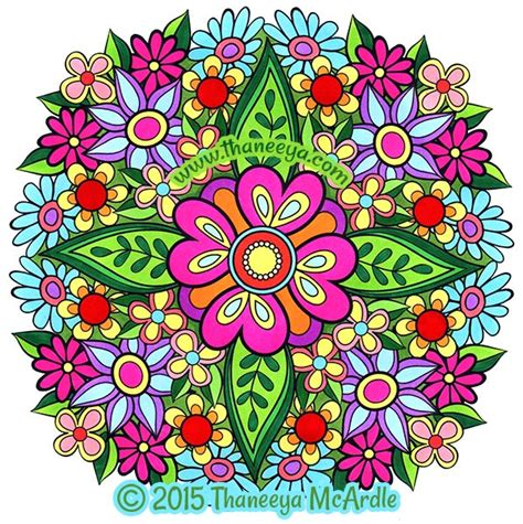 mandala coloring book where to buy flower mandalas coloring book by thaneeya mcardle