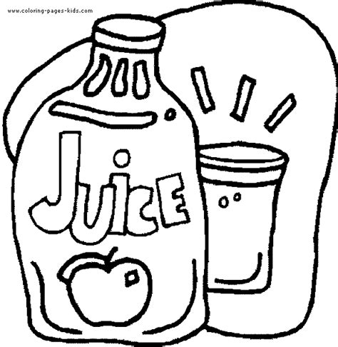 Coloring Pages Of Food And Drinks | juice color page