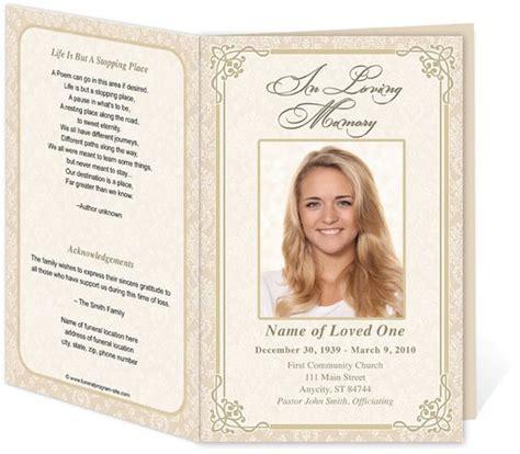 download edit print ready made program funeral