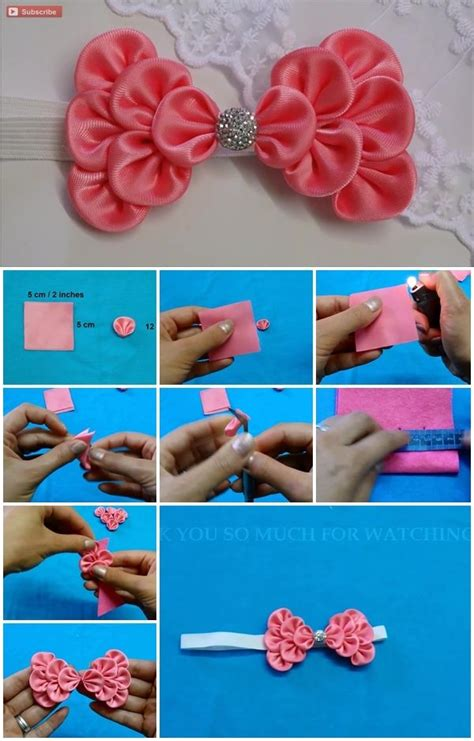 to make how to make kanzashi hair bow usefuldiy