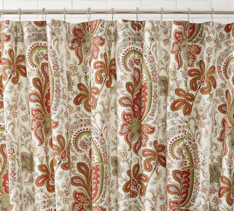 paisley shower curtains pottery barn red charlie paisley shower curtain bought