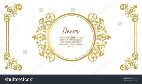 gold decorative elements vector vector decorative frame elegant gold element stock vector