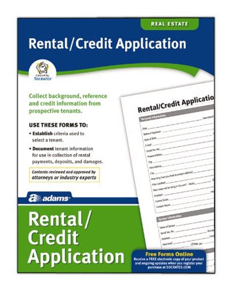 Rental Credit Application Template Free Rental Application Template