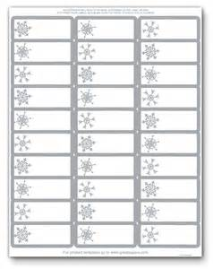 address label template 5160 printable address labels foil silver snowflakes