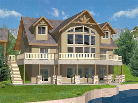 lake front house plans purcell lake rustic home plan 088d 0259 house plans and more