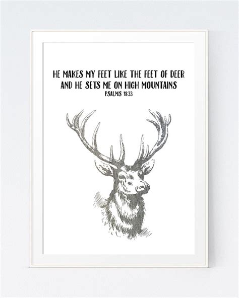 deer bible verses deer bible quote christian print bible