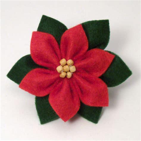 pattern for felt poinsettia flower blog planetjune by june gilbank 187 felt poinsettia tutorial