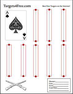 printable playing card targets target b w bersagli pinterest target shooting